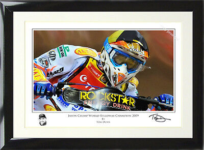 FRAMED Jason Crump Art Print Signed and Numbered by Artist Tom Dunn.