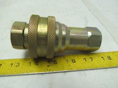 "Dynaquip DH12 3/4""NPT Quick Coupling Hydraulic Coupler Cadmium Plated Steel"