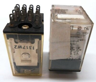 Omron, Relay, Type My4N, 24 Vdc, Lot Of 2