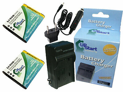 2x Battery+Charger+Car Plug+EU Adapter for Olympus XZ-1,