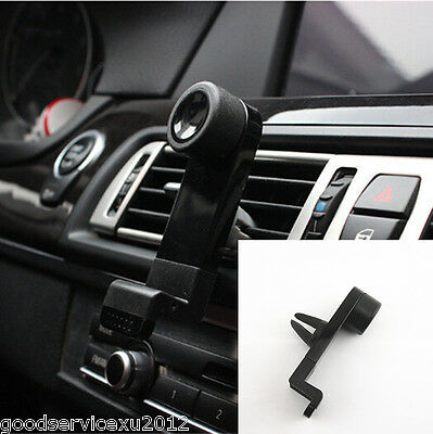 Black Portable 360°Rotated Car Air Vent Outlet Phone Support Fixed Clip For Mini