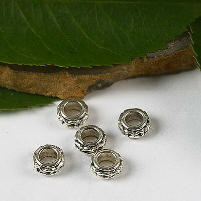 60pcs Tibetan silver oblate spacer beads h2932