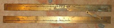 Vintage Kelvin & Wilfred O white co Brass Parallel Rolling Rule - AS-IS