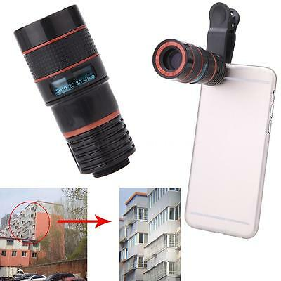 Durable Phone Telephoto 8X Zoom Camera Lens Clip On for iPhone Samsung HTC US YC