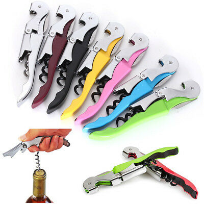 Multi-function Stainless Steel Metal Corkscrew Bar Wine Beer Bottle Cap Opener