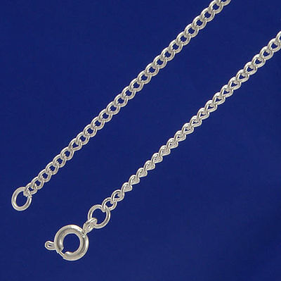 "A Pack of 20"" Silver Plated fine 2mm Curb Chains.  W2001d"