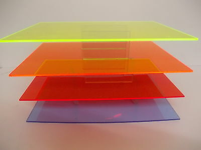Yellow 2t51  A6 A5 A4 A3 Perspex Acrylic Fluorescent Sheet Plastic Material 3mm