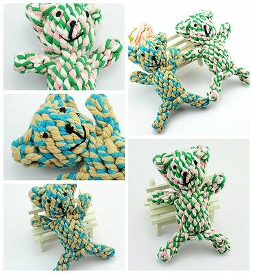 1PCS Pet Puppy Mix cotton ROPE Bear toys grinding clean teeth dog Chew Toy PT67