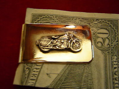 Money Clip: Sterling Panhead Motorcycle on Nickle