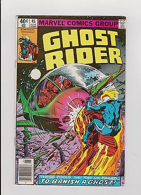 """1980 Marvel Comic Book """"Ghost Rider"""" Issue #45"""