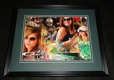 Ashley Brittany & Courtney Force Triple Signed Framed 11x14 Photo Display