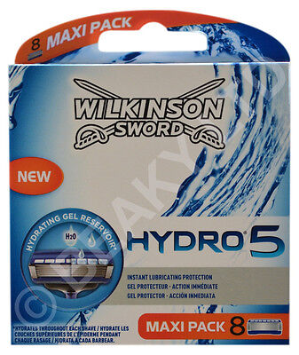 Genuine Wilkinson Sword Mens Hydro 5 Razor Blades (8-PACK) - Fast Shipping