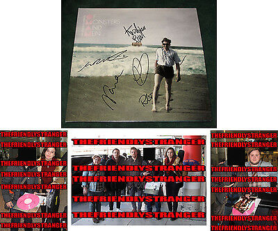 "OF MONSTERS AND MEN signed ""MY HEAD IS AN ANIMAL"" ALBUM LP - PROOF - Nanna COA"