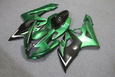 Candy Green w/ Black Injection Fairing For 2004-2005 Suzuki GSXR GSX-R 600 750