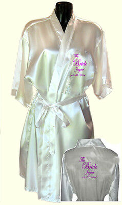 Bride / Bridesmaid personalised dressing gown kimono