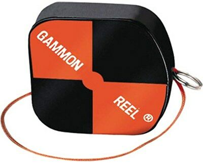 Gammon Reel 12ft Hi-Vis Black & Orange for Plumb Bob, Contractor and Surveying
