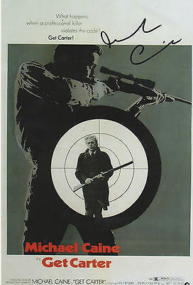 GET CARTER personally signed stunning 8x12 - MICHAEL CAINE