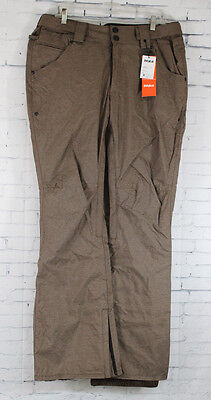 Thirty Two Wooderson Mens Skinny Snowboard Pants Large Chocolate