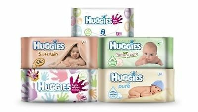 Huggies Wipes (Pure,Natural Care,Everyday,Soft Skin Baby Wipes x 64)