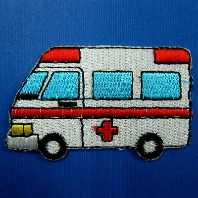 Ambulance Medical Hospital Sew Iron on Patch Badge Motif Applique Embroidered