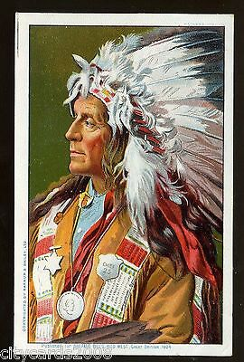 Ethnic   Buffalo Bill's Wild West 1904 GB Show - Native Amerian (India) Chief