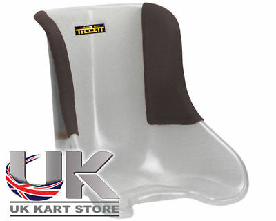 Tillett Seat T11 Soft (VG) Black 1/4 Cover SCD Go Kart Karting Race Racing