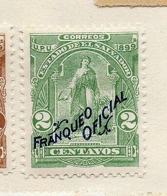 El Salvador 1896 Early Issue Fine Mint Hinged Official Optd 2c. 143403