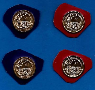 2015 P and D Position A and B Sacagawea Native American Dollars - Four Coins-BU