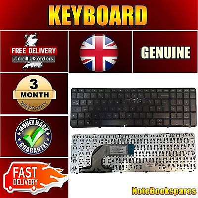 New Hp 15-N268sa Laptop Black Laptop Keyboard Black Uk with Frame