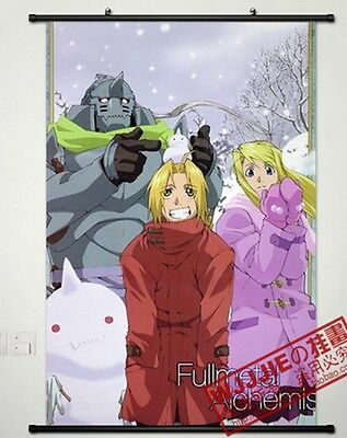 Anime Home Decor Poster Wall Scroll Fullmetal Alchemist (90*60)-047