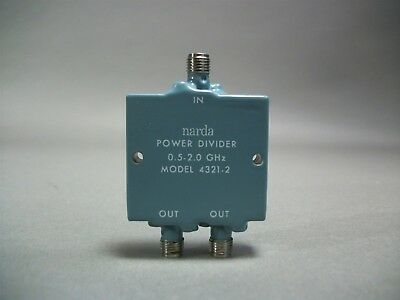Narda Model 4321-2 Power Divider 0.5-2.0 GHz - New