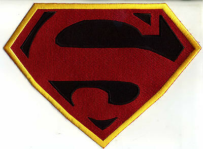 "7"" x 10""  Large Fully Embroidered Superman New Frontier Chest Logo Patch"