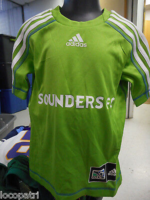 best service 9b80e 32d03 ADIDAS MLS SEATTLE Sounders Kids/Youth Soccer Climalite Jersey NWT XS