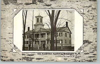 Pembroke NH Old Academy c1910 Postcard - Frank Swallow