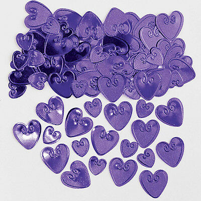 Purple Heart Table Confetti Wedding Sprinkles Engagement Party Decorations