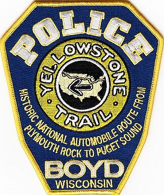 WISCONSIN  -  BOYD  POLICE  DEPARTMENT  Patch        YELLOWSTONE  TRAIL