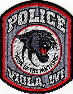 WISCONSIN  -  VIOLA   POLICE  DEPARTMENT     Patch      ~NEW  STYLE~