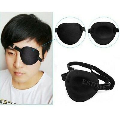 Medical Use Concave Eye Patch Foam Groove Adjustable Strap Washable Eyeshades