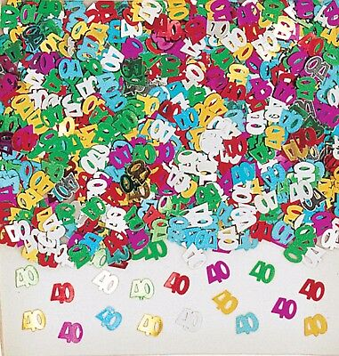 40th Birthday Party Metallic Table Confetti Decorations Age 40 Sprinkles