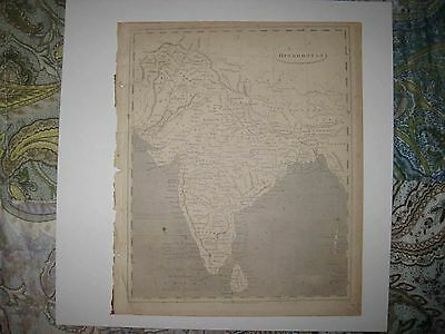 Important Antique 1805 Hindoostan India Arrowsmith & Lewis Copperplate Map Rare