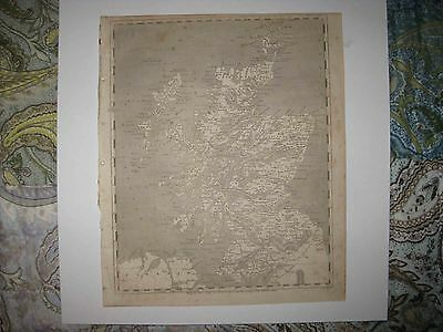 Rare Antique 1805 Scotland Arrowsmith & Lewis Copperplate Geneal Roy Map Shire N