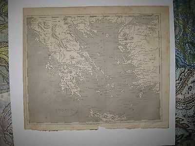 Superb Rare Antique 1805 Greece Arrowsmith & Lewis Copperplate Map Fine Nr