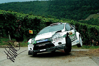 Malcolm WILSON WRC Ford DRIVER Stobart SIGNED AUTOGRAPH 12x8 Photo AFTAL COA