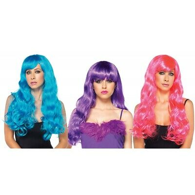 Starbright Long Wavy Costume Wig Adult Womens Rave Cosplay Halloween Fancy Dress