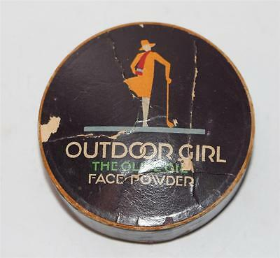 alte Pappdose Outdoor Girl Face Powder Made in USA  #F423