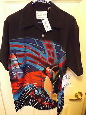 Dragonfly Pink Floyd The Wall Run Like Hell Men's Button Up Casual Dress M Shirt