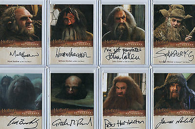 The Hobbit   -   The Desolation Of Smaug Autograph Card Selection Cryptozoic