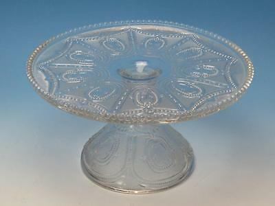Heisey Glass - EAPG - Locket on a Chain Pattern - Footed Cake Stand Plate