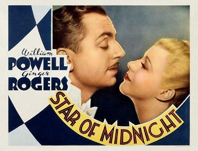 WILLIAM POWELL & GINGER ROGERS close-up * STAR OF MIDNIGHT * 11x14 LC print 1935