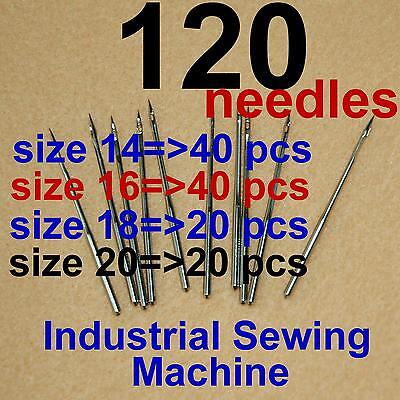 120 Industrial Sewing Machine Needles Dbx1 16x231 Size 14 16 18 20 for Singer